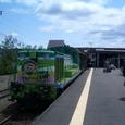 富良野駅ホームトロッコ号