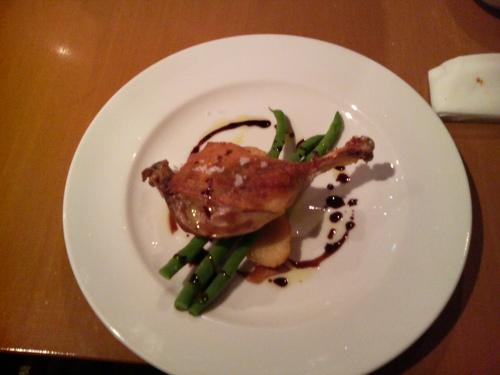 福島での夕食。