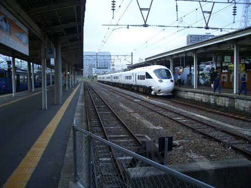 長崎駅ホームにて