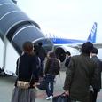 鳥取空港行き登場