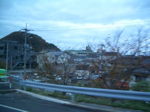 鳥取砂丘から戻るバスの中
